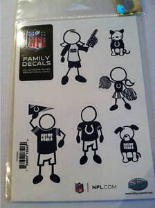 Indianapolis Colts Small Family Car Decals EBay - Family car sticker decalsfamily car decals ebay