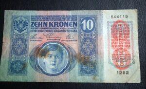 AUSTRIA-HUNGARY-BANKNOTE-10-KRONEN-1915-DEUTSCHOSTERREICH-WIEN