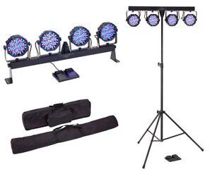SOUNDSATION-Kit-Luci-Completo-discoteca-4-PAR-a-LED-EFFETTI-LUCE-DJ