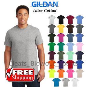 4f20c940358367 Gildan Ultra Cotton Mens Short Sleeve T Shirt Tee Blank Solid Soft S ...