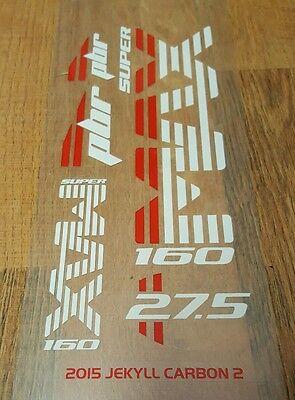 Sticker Decal Set for Cannondale 2013 TRIGGER 2 Carbon 26 Lefty PBR 130 Fork