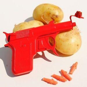 Retro-Metal-Die-Cast-Potato-Spud-Gun-Water-Pistol-Toy-Gun-Dressing-Costume-NEW