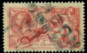 GREAT BRITAIN #180, 5sk Seahorses, used, VF, Scott $125.00