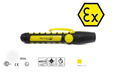 KSE-LIGHTS, KS-9900, LED ATEX Ex-geschützte Taschenlampe, Inspektionslampe, gelb