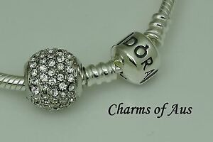 Genuine-Pandora-Bracelet-With-925-S-Silver-Pave-ball-Charm-Lovely-Christmas-Gift