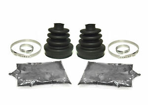 Rear Inner /& Outer CV Axle Boot Kit for Polaris Sportsman 400 w// 4x4 2001-2005