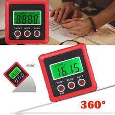 Digital Inclinometer Level Box Protractor Angle Finder Bevel Gauge Magnet 490