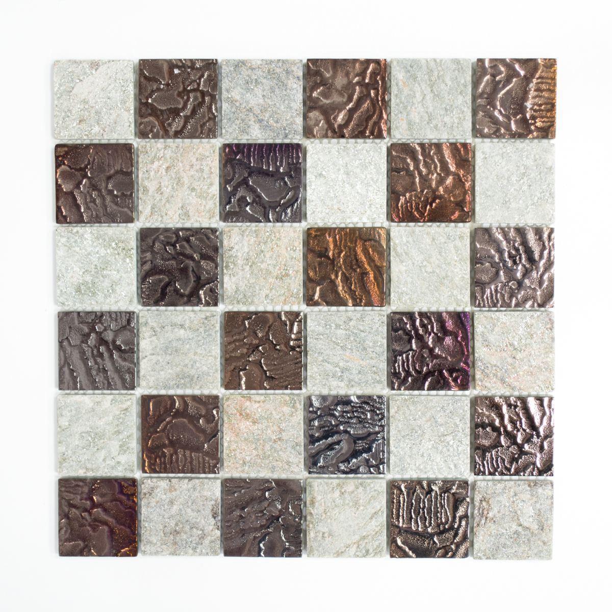 Mosaik Fliese Transluzent grau Glasmosaik Crystal 88-CR73_f10 Matten