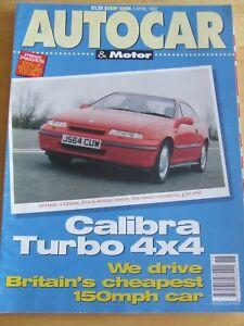 AUTOCAR-MOTOR-MAGAZINE-APR-1992-CALIBRA-TURBO-MAZDA-626-GINETTA-G33-LOTUS-MASERA