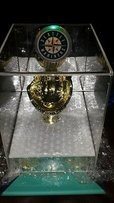 Bright Seattle Mariners Deluxe Acrylic Baseball Display Case W/glove W/mirror Back Structural Disabilities Autographs-original