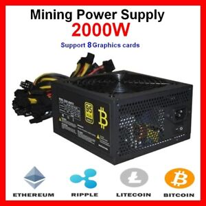 Alimlentation PC 2000W mineur Ethereum et Bitcoin, Power Supply