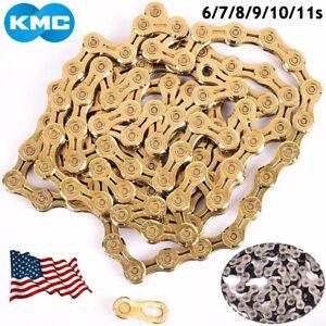 KMC-6-7-8-9-10-11s-Chains-MTB-Bike-Hollow-EL-116-118L-Chain-Cassette-Sprocket