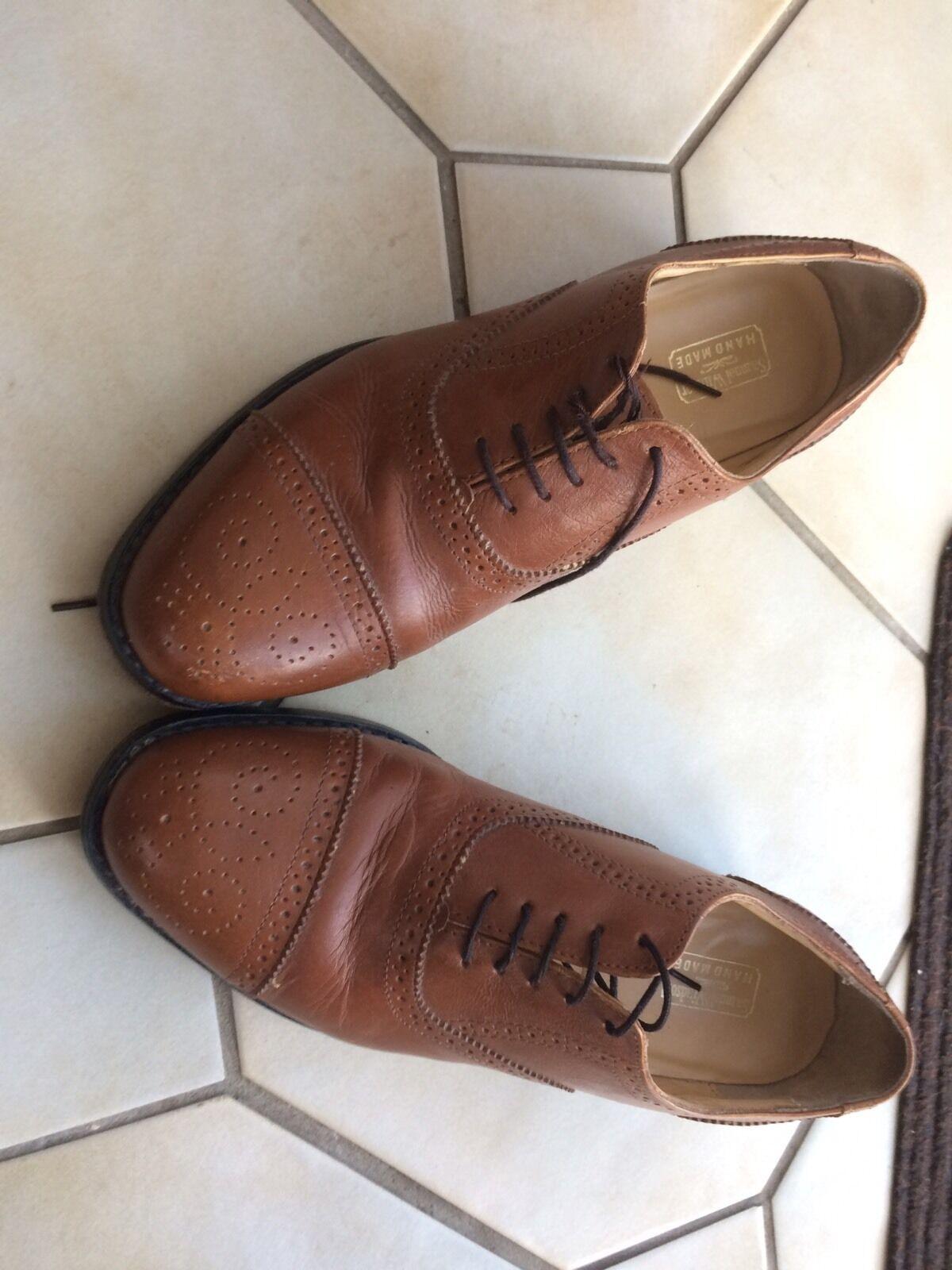 Men's shoes Size U.K. Size 8.5 Tan Hand Made Brogues