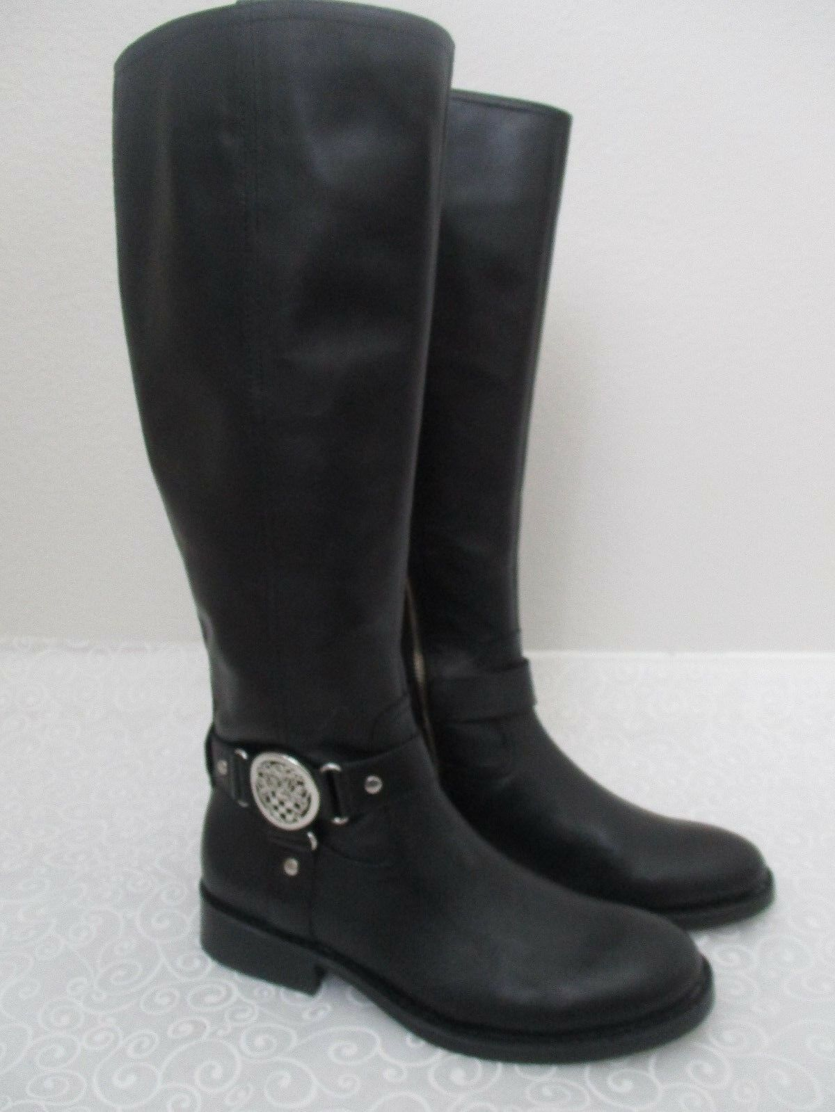 VINCE CAMUTO FARROW noir LEATHER KNEE HIGH bottes Taille 8 1 2 M - NEW