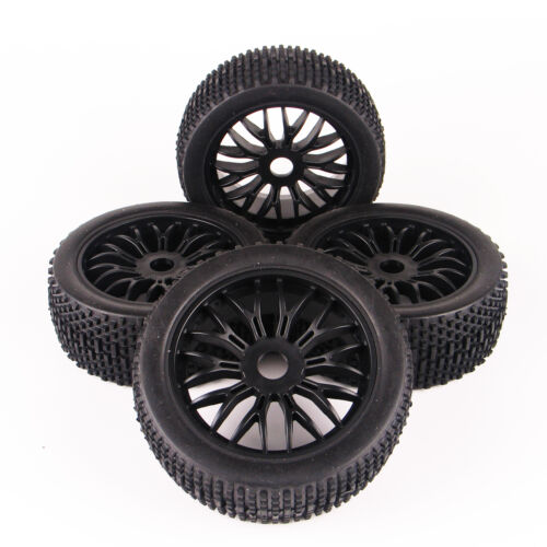 RC 4Pcs 1:8 Buggy Tires/&Wheel 17mm Hex For HSP HPI Traxxas Off-Road Model Car