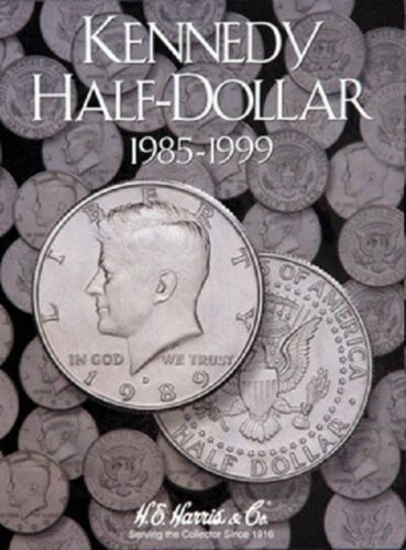 3 Harris Coin Folders Collection Set For Kennedy Half Dollars Nos.1-3 1964-Date