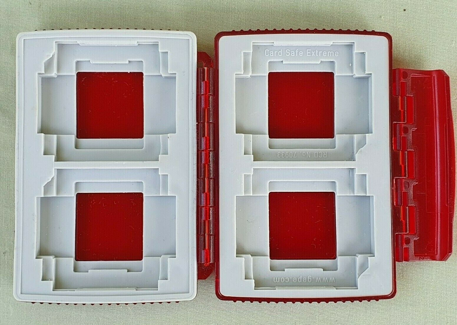 Red Gepe Card Safe Extreme Memory Card Protector for 4 x SD or Compact Flash