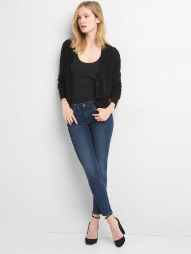 in nero Women 100 nuovo maglione cashmere tag Cardigan 846339 con taglia Gap q4wpX16gX