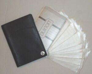 Buxton Genuine Leather 10 Window Fan Card Case,Black