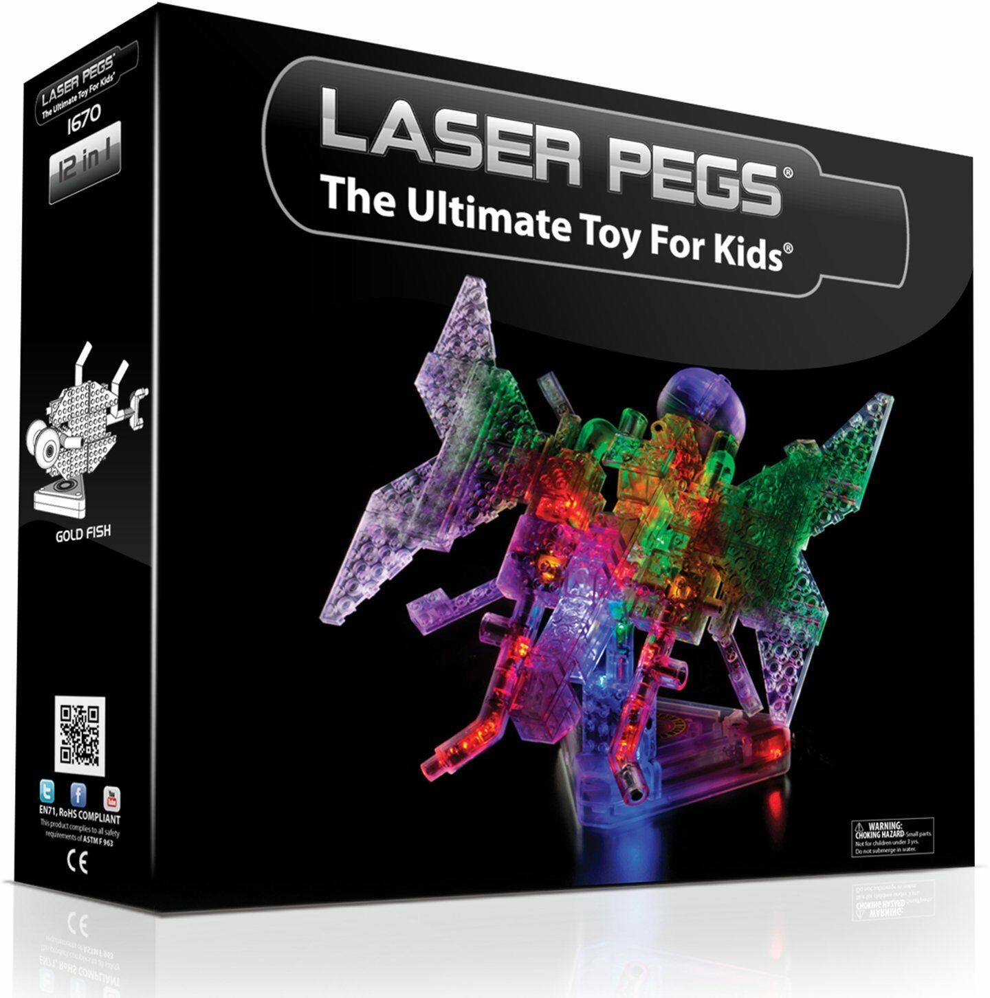 Laser Pegs 12-in-1 Butterfly Building Set by Laser Pegs