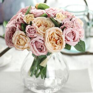 1Bunch Artificial Ranunculus Bouquet DIY Silk Flower for Home Wedding Decor