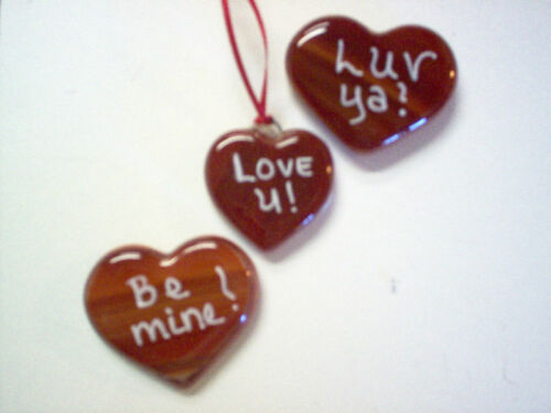 Be mine Luv Ya or a saying of yours Valentine Hearts