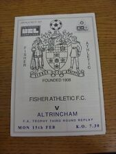 15/02/1988 Fisher Athletic v Altrincham [FA Trophy Replay] . Thanks for viewing