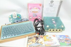 Dreamcast-DC-HELLO-KITTY-BLUE-Console-System-Tested-working-sega-japan