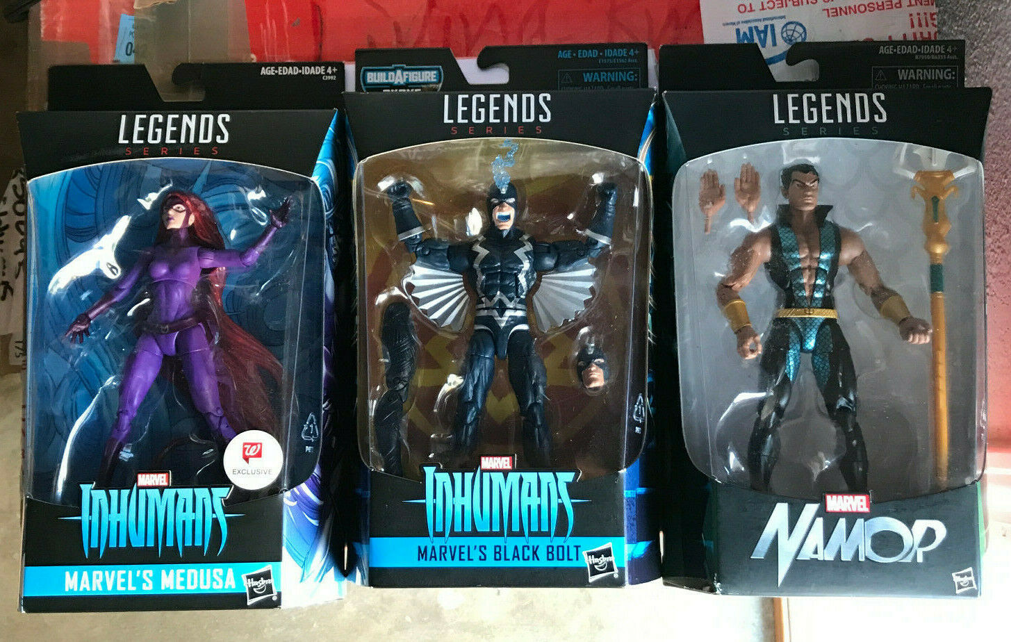 Marvel Leyendas 6  Negro Medusa Perno Namor Walverdes Exclusivo Nuevo Sellado