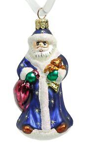 St. Nick Santa Blue Robe Glass Christopher Radko Christmas ...