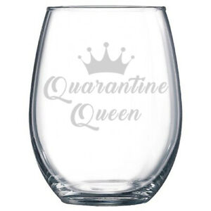 Qurantine Queen Wine Tumblers