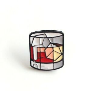 Details about Cartoon Ice cubes & Red Wine Enamel Pins creative Whisky  Brooches for Bags Hats