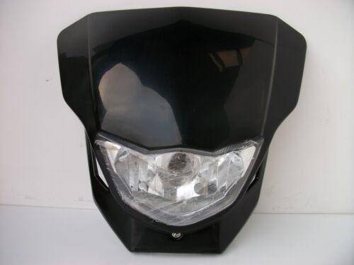 Black Enduro Motocross Streetfighter Headlight Alien Ktm Xt Drz Xr Dtr Crf Exc