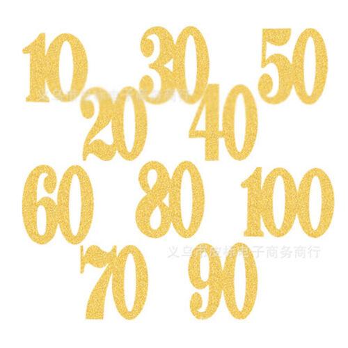 Anniversary Birthday Diamante Pick Rhinestone Topper Cake Gold 10-50pcs EF