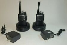 Two Vertex Vx 251 G7 5 Uhf 16 Ch 450 520 Mhz 4w Radios With Belt Clips Amp Chargers