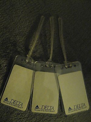 Delta Airlines We Love To Fly White Vintage Playing Card Luggage Name Tag Tags 3