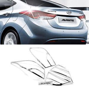 Chrome-Rear-Tail-Light-Lamp-Molding-Cover-for-HYUNDAI-2011-16-Elantra-Avante-MD