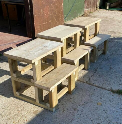 Mounting Block 2 Step 60cm high Tanalised Timber Horse Jump Arena Natural