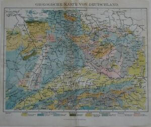 Details about Original 1879 Geological Map GERMANY DEUTSCHLAND Leipzig on garmisch germany on map, auschwitz germany on map, osnabruck germany on map, schwangau germany on map, aachen germany on map, fussen germany on map, darmstadt germany on map, berchtesgaden germany on map, oldenburg germany on map, augsburg germany on map, marburg germany on map, grafenwoehr germany on map, bremen germany on map, rothenburg germany on map, karlsruhe germany on map, amsterdam germany on map, landstuhl germany on map, kiel germany on map, luneburg germany on map, kaiserslautern germany on map,