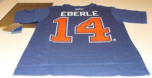 Edmonton-Oilers-Jordan-Eberle-M-Reebok-Name-Number-Logo-T-Shirt-Hockey-NHL
