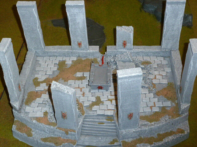 Warhammer Fantasy LOTR painted terrain lot - Altar of Chaos   evil Lotr armies