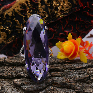 Fantastic African Amethyst Gemstone 925 Sterling Silver Handmade Ring All Size