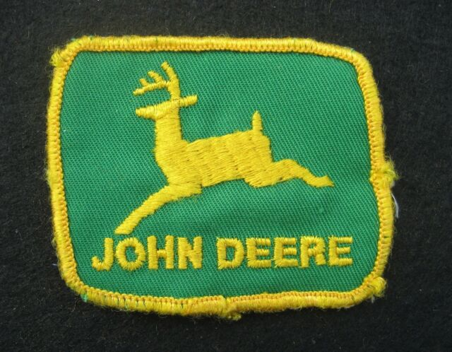 John Deere Embroidered Sew On Only Patch Farm Green Back Uniform 3