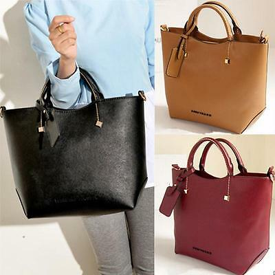 Women Leather Handbag Retro Shoulder Messenger Bag Vintage Ladies Hobo Tote Bags