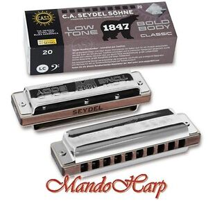 Seydel-Harmonica-16201Low-1847-Classic-Low-SELECT-KEY-NEW
