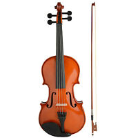 4/4 Full Size Beginners Acoustic Violin Set With Case Bow Rosin Bridge