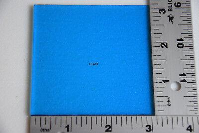 "ORANGE /& CLEAR SWIRL 3/"" x 3/"" x 3mm THICK BULLSEYE GLASS 90 COE COMPATIBLE"