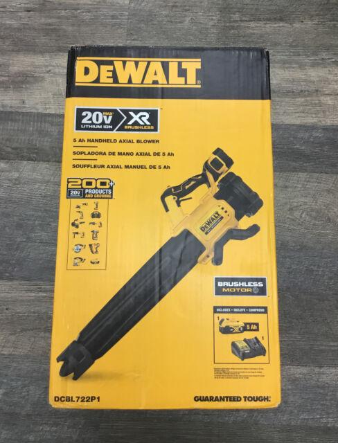 DeWalt DCBL722P1 20V MAX XR Brushless Ergonomic Handheld Blower Kit 5ah Battery