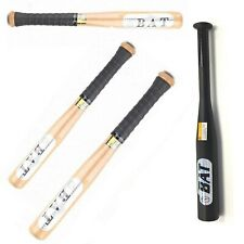 UK Heavy Duty Solid Wood Wooden Baseball Bat With Rubber Grip Multiple-Size Gift