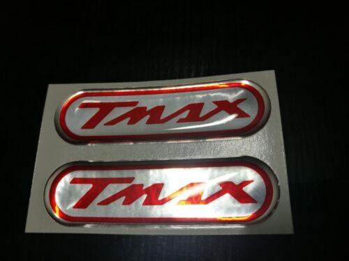 Adesivi per yamaha tmax 530 500 diapason rosso-cromo in resina gel 3Dnew color